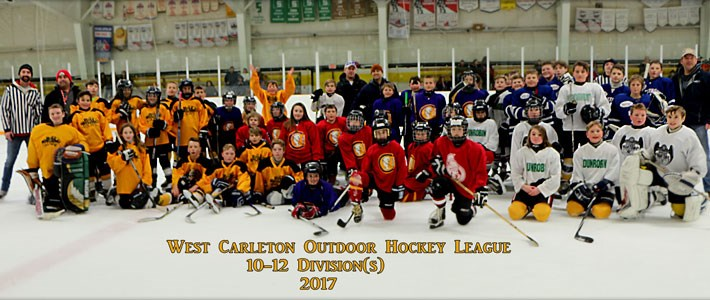West Carleton Outdoor Hockey League - 10-12 year olds - 2017 Season - Image credit G. Wetherall