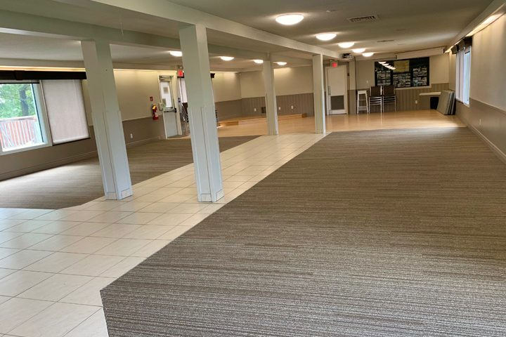 Mess Hall with new carpet tiles